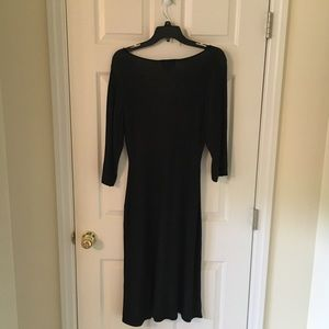 connected apparel Dresses - Black & White sweater dress, large